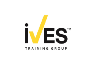 Ives Training Group logo with yellow check mark for the V