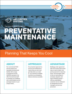 ACS PDF Preventative Maintenance Sell Sheet for the Service and Maintenance