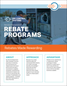 ACS PDF Sell Sheet for the Service Department's Rebate Programs
