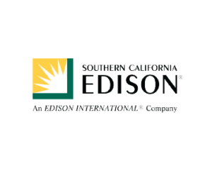 Southern California Edison Logo with sunshine in yellow and green square